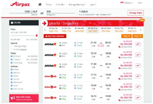 choosing flight
